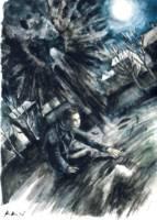 Dantova galerie: Lednová nemoc I., akvarel