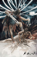 Dantova galerie: Michael, akvarel
