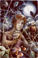 Dantova galerie: Dveře, akvarel